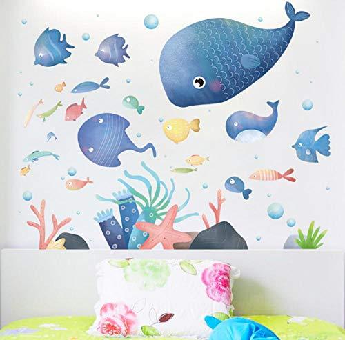 Ocean Small Fish Muursticker Slaapkamer Woonkamer Slaapbank Achtergrond Decoratie Muursticker