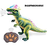 Remote Control Dinosaur for Kids with Light Up Eyes and Roaring...