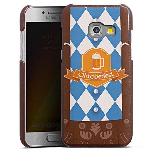 DeinDesign Cover kompatibel mit Samsung Galaxy A5 (2017) Lederhülle Leder Case Leder Handyhülle Oktoberfest Lederhose Bier