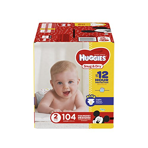 Price comparison product image HUGGIES Snug & Dry Diapers,  Size 2,  104 Count,  BIG PACK (Packaging May Vary)