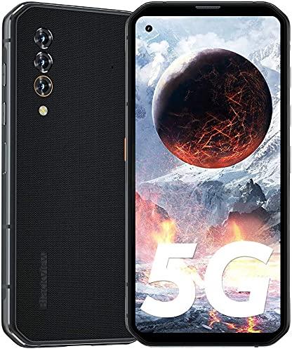 Blackview 5G BL6000 Pro Outdoor Smartphone ohne Vertrag 8GB RAM 256GB, 6,36 Zoll FHD+, 48MP KI-Dreifachkamera, Dual SIM Android 10 Handy - 2 Jahre Garantie - Schwarz [Globale Version]