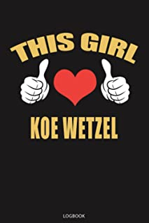 This Girl Loves Koe Wetzel Logbook Notebook Journal Lined, 6x9 Inches, 110 Pages