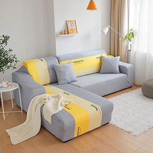 Correas Elásticas Protector de Muebles 2 plazas y 4 plazas, funda de sofá elástica estampada para decoración de sala de estar, funda de sofá elástica en L, funda de sofá seccional, 2 piezas