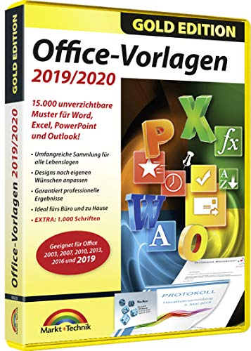 Office 2019 / 2020 Vorlagen - 15.000 Vorlagen zu Office 2019, 365, 2016, 2013, 2010 für Windows 10 / 8.1 / 8 / 7
