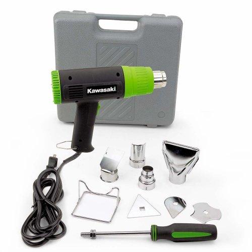 Kawasaki 840015 Black 10-Piece Heat Gun Kit