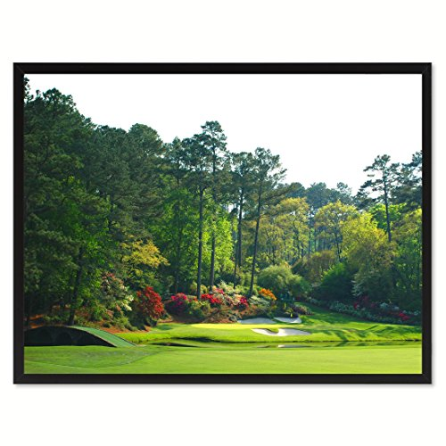 SpotColorArt Augusta Golf Course Photo Picture Handcrafted Framed Canvas Print