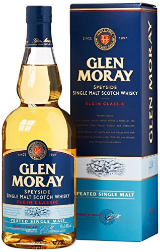 Glen Moray Elgin Classic Peated Single Malt mit Geschenkverpackung (1 x 0.7 l)