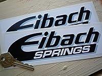 Eibach Springs Stickers ステッカー シール デカール ブラック&ホワイト&グレー 185mm x 55mm 2枚セット [並行輸入品]