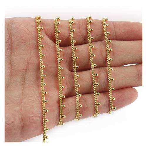 BOSAIYA PJ1 1 Meter Steel de Oro de Acero Inoxidable Cadena de Color Estrellas Irregulares Sector para joyería Fabricación de Bricolaje Pulseras Collares Tobillos Accesorios Tl0616 (Color : 4)