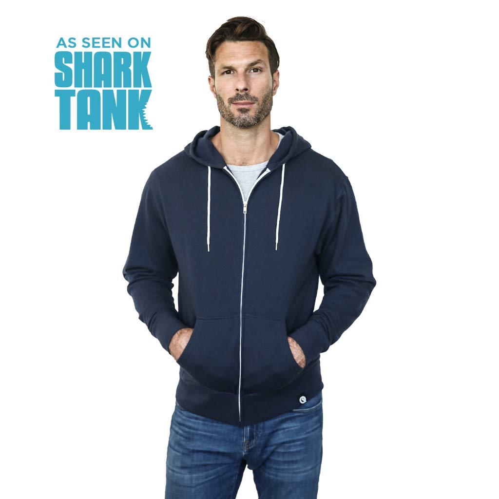 As Seen on Shark Tank Quikflip 2-in-1 Reversible Backpack Hoodie Unisex Full-Zip Hero Hoodie Lite