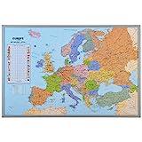 Tableau d'affichage Carte d'Europe avec drapeaux