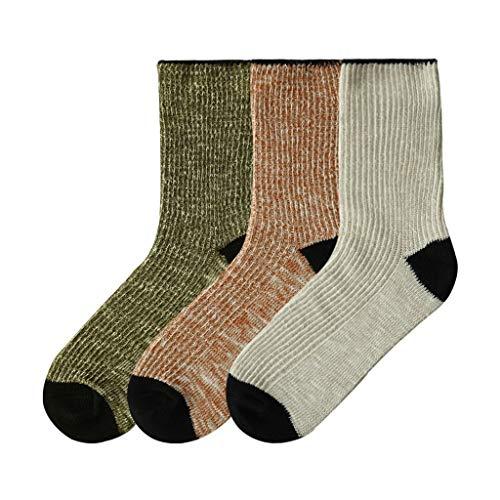 GDSSX Hombres Caliente Caliente Calcetines de Punto Gata Hilo Grueso Calcetines Respirables for el Invierno 3 Pares Regalos para Damas (Color : Three Colors B, Size : Free Size)
