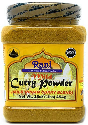Rani Curry Powder Mild Natural 10-Spice Blend 1lb (16oz) ~ Salt Free | Vegan | No Colors | Gluten Free Ingredients | NON-GMO | NO Chili or Peppers