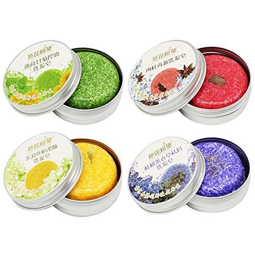 4 STKS Natuurlijke Jasmijn Kaneel Lavendel Pepermunt Plant Haar Shampoo Bars voor Haargroei Anti Roos Olie Controle Thuis Reizen Gebruik