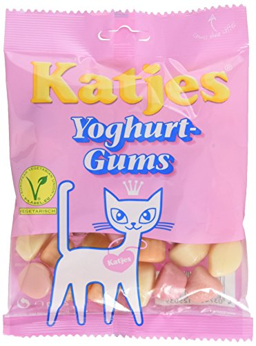 Katjes Yoghurt-Gums – Kultige Fruchtgummi Süßigkeit mit Joghurt-Geschmack – Der Klassiker unter den Süßigkeiten (20 x 200 g)