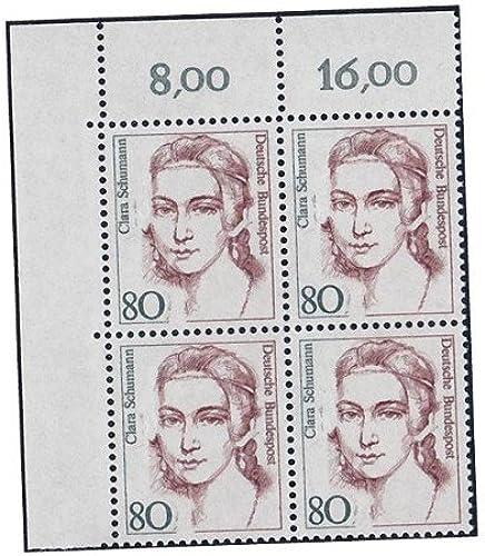 Goldhahn BRD Bund Nr. 1305 I postfrisch  Eckrandviererblock Oben Links Briefmarken für Sammler