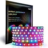 ALITOVE WS2812B LEDテープ 5m 300連 NeoPixel RGB TAPE LED 5050 SMD ピクセル LEDテープライト 非防水 黒いベース DC5V