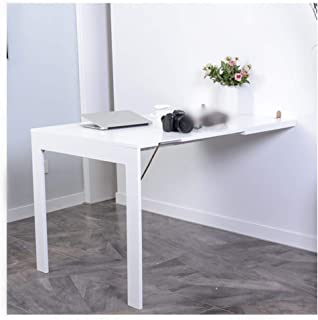 HQCC Wall-Mounted Folding Table, Home Telescopic Folding Multi-Function Wall Table Dining Table (Color : White, Size : 7445cm)