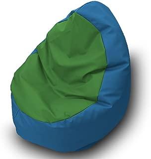 Pufmania Bean Bag Beanbag Walnut Leatherette 85 nbsp x 85 nbsp cm Blue green