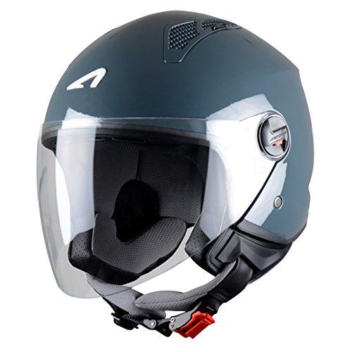 Astone Helmets Mini Jet Army Casco Jet, color Gris Oscuro, talla S
