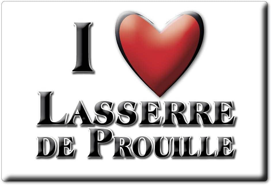 Enjoymagnets Lasserre DE PROUILLE (11) Souvenir IMANES DE Nevera Francia FRANCHE COMTÉ IMAN Fridge Magnet Corazon I Love