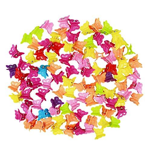 Nuluxi Mini Pinces à Cheveux en Plastique Coloré Griffes à Cheveux Mini Mignon Plastique Mini Coloré Griffe de Cheveux Joli design et durable Mini Gri
