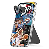 Phone Case Compatible with iPhone Xr 8 Se 12 X 2020 11 6 7 OKC 6s Thunder Plus...