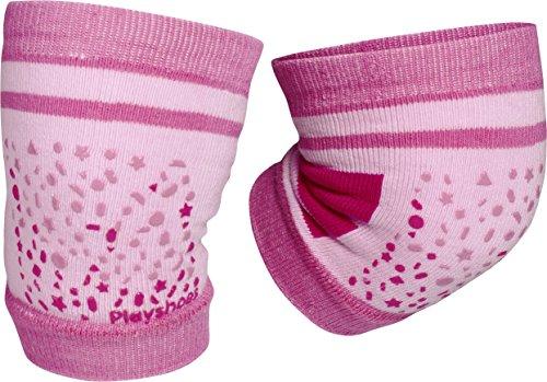 Playshoes Unisex - Baby Set 498803 Baby Knieschoner, rutschhemmend, Gr. one size, Mehrfarbig (Pink)