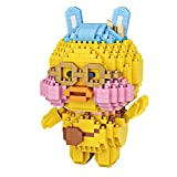Aegilmctoys Personaje De Anime Mini Puzzle Cubo 3D, Figura Construida con Bloques Construcción Carácter Mini Nano Dibujos Animados Juguete para Mascotas Ladrillos Construir,Duck