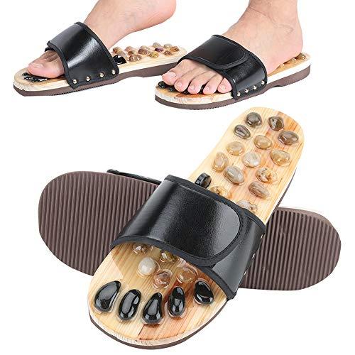 Fußmassage Hausschuhe, Kieselstein Sandale Akupunktur Füße Relax Schuhe Matte Relaxer Reflexzonenmassage Werkzeuge Massage für Eltern Frauen Männer.(39-40)