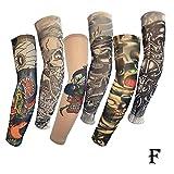 KOERIM 1/5/6pcs Temporary Tattoo Sleeves,Sunscreen Sleeves,Unsex Elastic Fake Temporary Tattoo Arm Sleeves