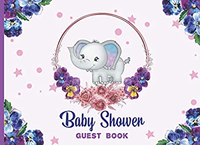 Baby Shower Guest Book: Elephant Baby Shower Guestbook with Registry and Gift Tracker Log for Guests (Sign In Notebook for Occasion)