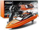 GizmoVine Ferngesteuertes Boot RC Boot 2,4GHz mit 2 Motoren Schnelle Geschwindigkeit für Jungen und Mädchen