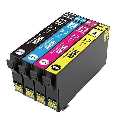 Uguan 405 XL - Cartuchos de tinta de repuesto para Epson 405XL Multipack para Epson Workforce Pro WF-3820DWF 3825DWF 4820DWF 4825DWF 4830DTWF WF 7830DTWF 7835DTWF Pro 7840DTWF Impresora (4 unidades)
