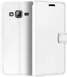 جراب محفظة Samsung Galaxy J3 2016، جراب قلاب مغناطيسي من الجلد الصناعي الممتاز مع حامل بطاقة ومسند لهاتف Samsung Galaxy J3...