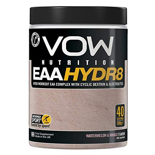 Vow EAA Hydr8 - Essential Amino Acids, Electrolytes, BCAAs, Cyclic Dextrin Intra Workout Drink