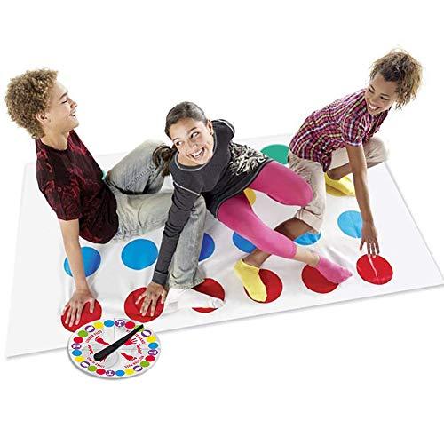 LOVEXIU Juego de Piso Familiar Tapete de Juego Tornado Tapete, Juegos de Mesa, Divertidos Juegos de Habilidad para niños y Adultos