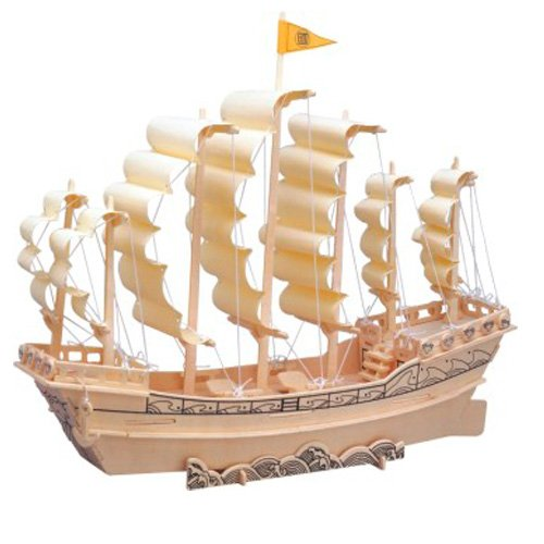 Etna Iława Ming-Dynastie Segelschiff 3D Holzbausatz Schiff Boot Holz Steckpuzzle Holzpuzzle Kinder P131