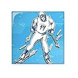 DIYthinker deporte de invierno snowboard contes blanco azul de acuarela ilustración tejas de cerámica bisque para decorar baño decoración de la cocina de cerámica azulejos azulejos de la pared