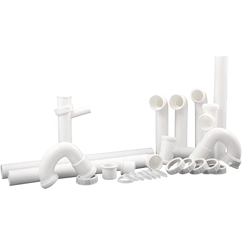 PlumbCraft Complete Kitchen Drain Repair Kit - Fits most sinks