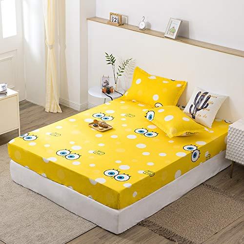 HAIBA Sábana bajera ajustable de seda satinada, transpirable, suave y cómoda (una sola pieza, doble), 180 x 200 + 20