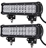 Leetop 2X 72W IP67 CREE LED Light Bar Barra Luminosa LED Fuoristrada Auto Faro da Lavoro Luce Fari LED Auto Fendinebbia Impermeabile Flood e Spot per Auto Camion
