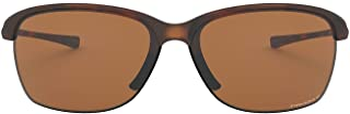 Oakley Women's OO9191 Unstoppable Rectangular Sunglasses, Matte Brown Tortoise/Prizm Tungsten Polarized, 65 mm