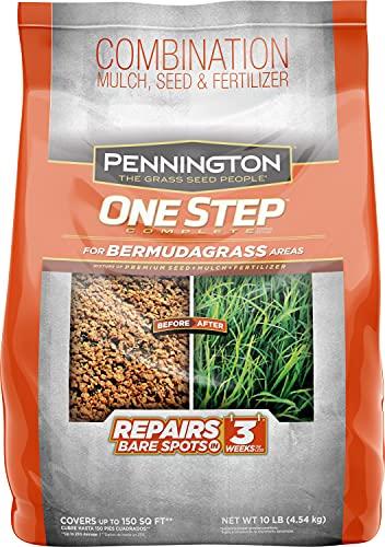 Pennington One Step Complete Bermudagrass Seed, Mulch, Fertilizer 10 lb