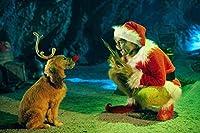 QMGLBG 5Dダイヤモンド塗装 クリスマスモンスターと犬のダイヤモンド塗装大人のクリスタルクロスステッチアート壁の装飾アート30*40cm