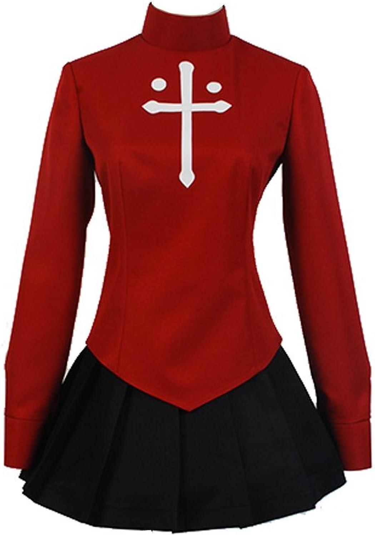 Fate stay night Rin Tohsaka Coat Skirt Outfit Cosplay Kostüm Version 2 Damen M