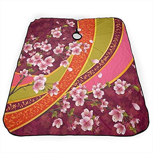 Tablier De Coupe De Cheveux Oriental Sakura Blossom Japanese Cherry Salon 140X168Cm Coupe De Cheveux Personnalisé Barber Cape Cover Coupe De Cheveux Coiffure Wrap Tablier Accueil