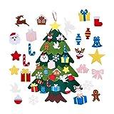 Majome Albero di Natale in Feltro, Decorazione dell'albero di Natale in Feltro Fai-da-Te Hook And Loop 3D Albero di Natale Tridimensionale per Bambini