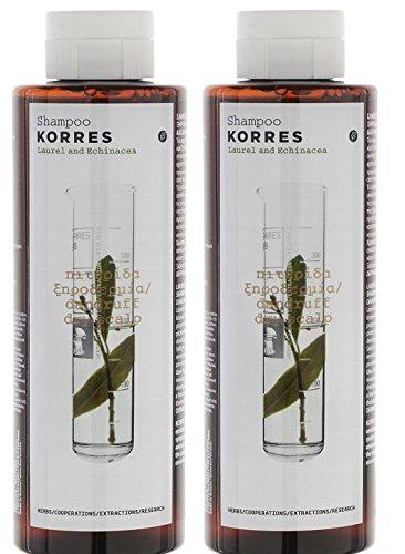 Korres Shampoo for Dandruff & Dry Scalp with Laurel & Echinacea 250ml & 1 FREE