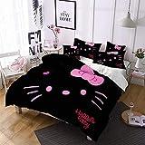 Kids Bedding Set Girls Hello Kitty Duvet Cover Bed Set Hello Kitty Duvet Case Bedding Cover 3 Pieces Bedding Bedspread Queen Size